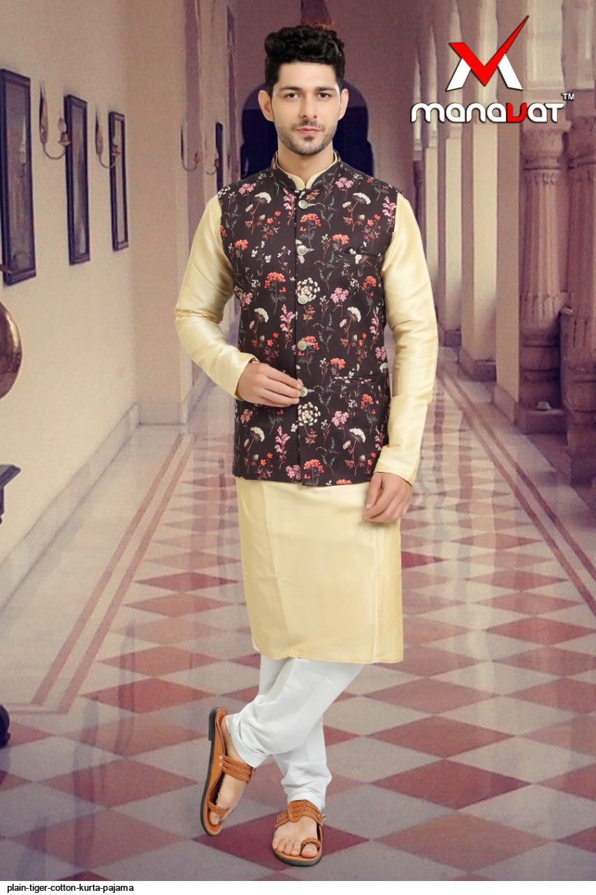 PLAIN TIGER COTTON KURTA PAJAMA O