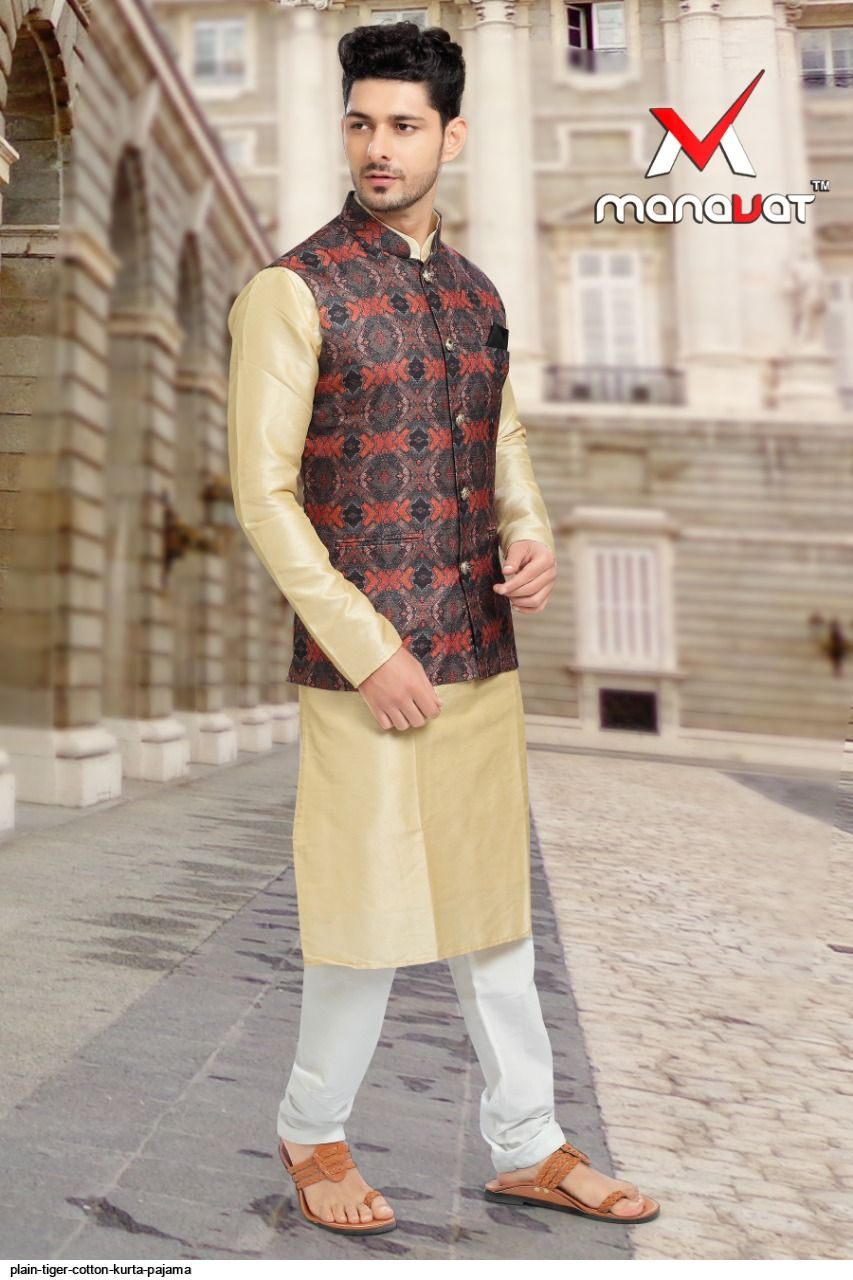 PLAIN TIGER COTTON KURTA PAJAMA K