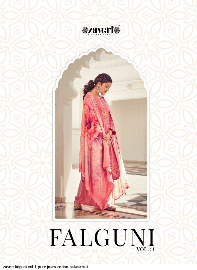 ZAVERI FALGUNI VOL 1 PURE JAAM COTTON SALWAR SUIT